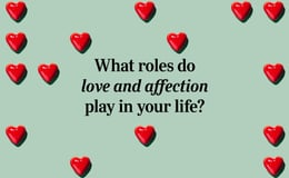 Question 21  What roles do love and affection play in your life?